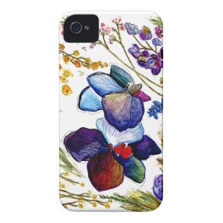 Capas de iphone selvagens da orquídea azul
