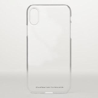 Capas de iphone transparentes com informação feita