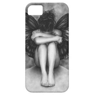 Capas de iphone tristes da menina da borboleta