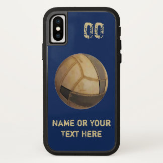 Capas de iphone velhas do voleibol do nome e do