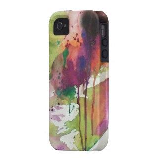 Capas de iphone verdes & alaranjadas da arte abstr capinhas para iPhone 4/4S