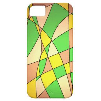 Capas de iphone verdes do abstrato do amarelo capa para iPhone 5