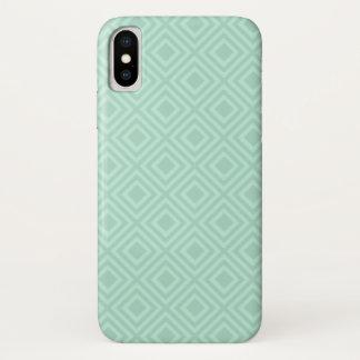 Capas de iphone verdes do teste padrão do diamante