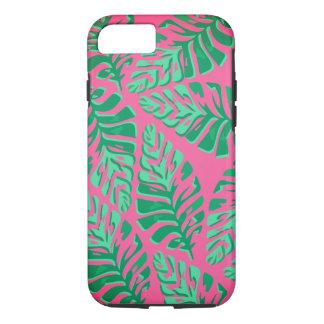 Capas de iphone verdes e cor-de-rosa coloridas das