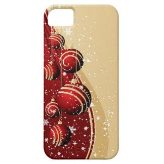 Capas de iphone vermelhas dos enfeites de natal do capa barely there para iPhone 5