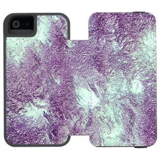 Capas de iphone violetas abstratas capa carteira incipio watson™ para iPhone 5