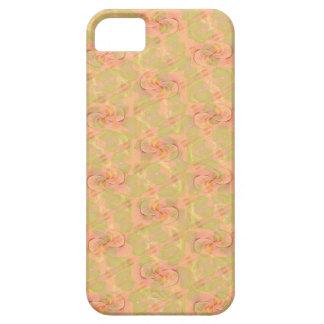 Capas de telefone abstratas florais do pêssego capa para iPhone 5