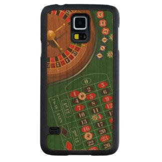 Capas de telefone de jogo da mesa do casino da capa slim de cerejeira para galaxy s5