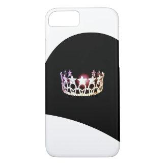 Capas de telefone de prata da coroa da senhorita