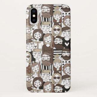 Capas de telefone do teste padrão do hipster