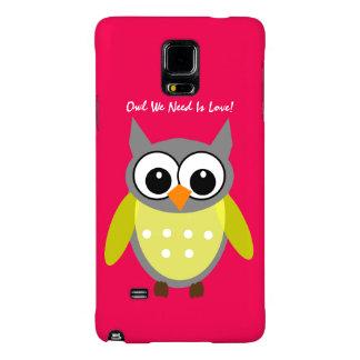 Capas Galaxy Note 4 A coruja que nós precisamos é amor