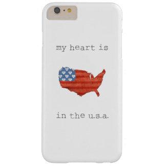 Capas iPhone 6 Plus Barely There A americana | meu coração está no mapa dos EUA