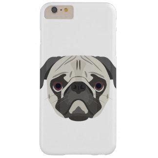 Capas iPhone 6 Plus Barely There A ilustração persegue o Pug da cara