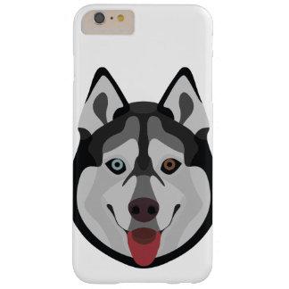 Capas iPhone 6 Plus Barely There A ilustração persegue o rouco Siberian da cara