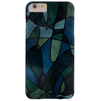 Capas iPhone 6 Plus Barely There Abstrato do vitral de Digitas da cerceta do verde