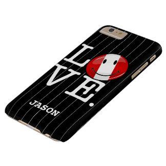 Capas iPhone 6 Plus Barely There Amor da bandeira peruana de sorriso de Peru