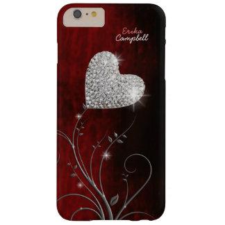 Capas iPhone 6 Plus Barely There amor feminino personalizado do coração