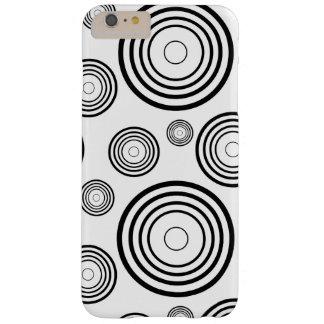 Capas iPhone 6 Plus Barely There Anéis preto e branco simples