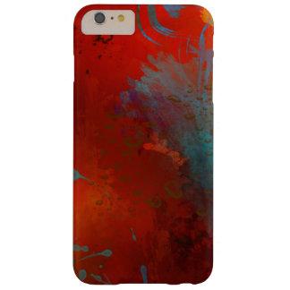 Capas iPhone 6 Plus Barely There Arte abstracta do Grunge do vermelho, do Aqua & do