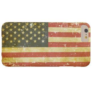 Capas iPhone 6 Plus Barely There Bandeira americana patriótica gasta