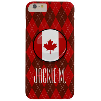 Capas iPhone 6 Plus Barely There Bandeira canadense redonda lustrosa