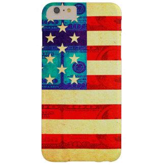 Capas iPhone 6 Plus Barely There Bandeira do dinheiro de América