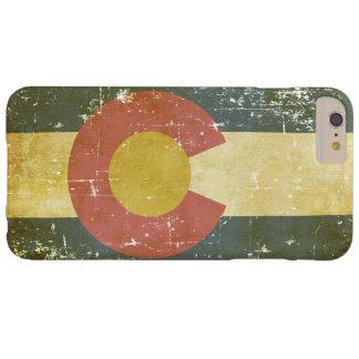 Capas iPhone 6 Plus Barely There Bandeira patriótica de papel gasta do estado de