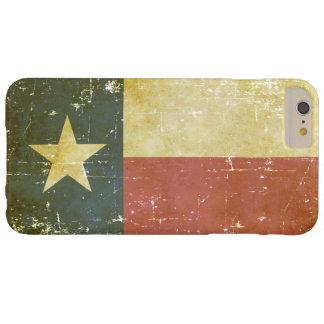 Capas iPhone 6 Plus Barely There Bandeira patriótica gasta do estado de Texas