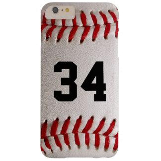 Capas iPhone 6 Plus Barely There Bola e número do basebol