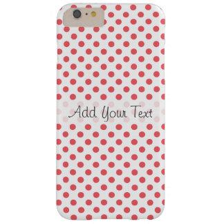 Capas iPhone 6 Plus Barely There Bolinhas cor-de-rosa corais por Shirley Taylor