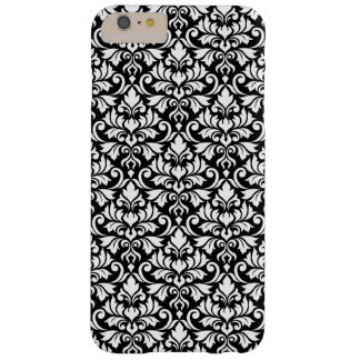 Capas iPhone 6 Plus Barely There Branco da cor damasco do Flourish no preto