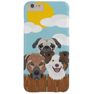 Capas iPhone 6 Plus Barely There Cães afortunados da ilustração em uma cerca de