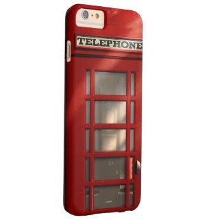 Capas iPhone 6 Plus Barely There Caixa de telefone vermelha britânica do vintage