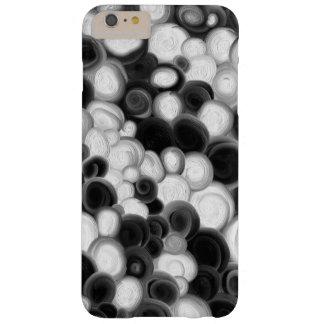 Capas iPhone 6 Plus Barely There Caixa preto e branco dos redemoinhos