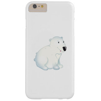 "Capas iPhone 6 Plus Barely There ""Capas de iphone do urso polar do selo pequeno do"
