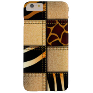 Capas iPhone 6 Plus Barely There Colagem animal de jeans do impressão do girafa da