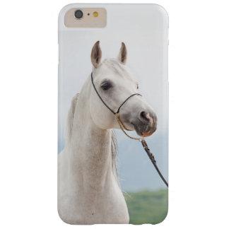 Capas iPhone 6 Plus Barely There coleção do cavalo. branco árabe