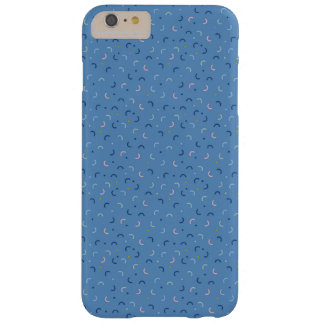 Capas iPhone 6 Plus Barely There Confetes do azul do estilo de Memphis