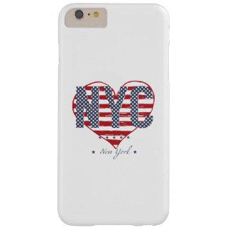 Capas iPhone 6 Plus Barely There Coração da bandeira americana de NYC