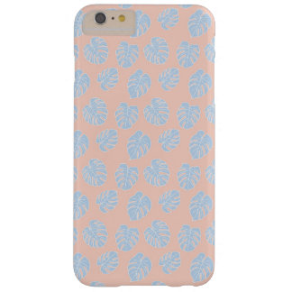 Capas iPhone 6 Plus Barely There Coral de Monstera & teste padrão Pastel tropicais