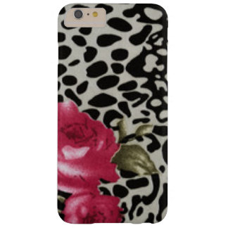 Capas iPhone 6 Plus Barely There Design animal do leopardo branco cor-de-rosa do