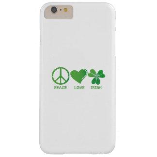 Capas iPhone 6 Plus Barely There Dia de São Patrício do irlandês do amor da paz