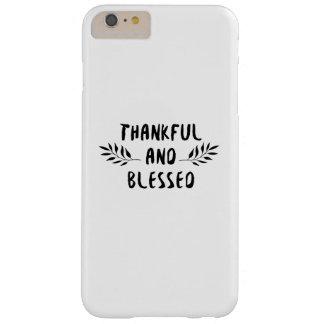 Capas iPhone 6 Plus Barely There Dia grato e abençoado da acção de graças da queda