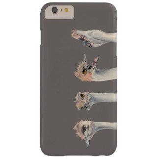 """Capas iPhone 6 Plus Barely There Do """"pintura engraçada das avestruzes da rainha"""