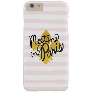 Capas iPhone 6 Plus Barely There Encontre-me no preto e no ouro de Paris