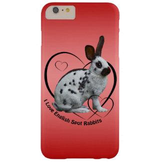 Capas iPhone 6 Plus Barely There Eu amo o caso inglês do iPhone 6 dos coelhos