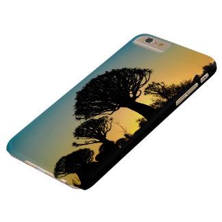 Capas iPhone 6 Plus Barely There Eu telefono ao caso S6 protetor com árvores do