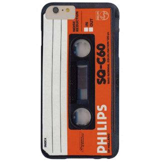 Capas iPhone 6 Plus Barely There Fita C60 QUADRADO da cassete áudio de Phillips