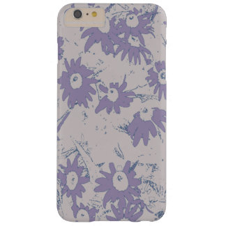 Capas iPhone 6 Plus Barely There Flores roxas do cone com fundo cinzento