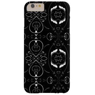 Capas iPhone 6 Plus Barely There Flourishes & enfeites elegantes do branco no preto